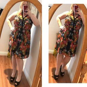 Torrid Floral multi shirt dress Knee Length Collar